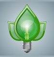 infographic template eco bulb light leaf icon vector image vector image