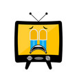 isolated crying tv emote vector image vector image
