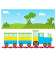 kids train cartoon toy with colorful vector image vector image