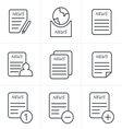 Line Icons Style Newspaper icons set vector image vector image
