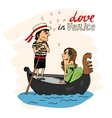 Love in Venice vector image