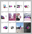 minimal brochure templates with circles round vector image vector image