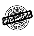 Offer Accepted rubber stamp vector image