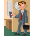 Office worker with cup vector image