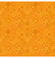 orange repeating diagonal curved shape pattern vector image vector image