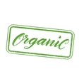 Organic stamp with hand drawn lettering isolated vector image vector image