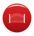 park fence icon red vector image vector image