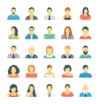People Avatars Colored Icons 1 vector image vector image