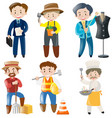 people doing different kinds of jobs vector image vector image