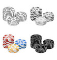playing chips the settlement coin in the casino vector image vector image