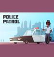 police patrol vector image