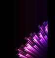 purple pink overlap stripe rush in dark background vector image vector image