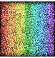 Rainbow sparkles glitter texture Black background vector image vector image