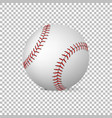 realistic baseball isolated design vector image vector image