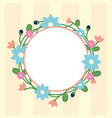 round frame flowers floral vector image
