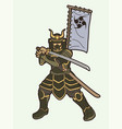samurai warrior or ronin japanese fighter action vector image vector image