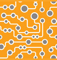 seamless retro circuit pattern vector image