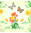 seamless texture happy easter decoration vector image vector image