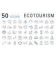 Set Flat Line Icons Ecotourism vector image vector image
