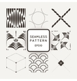 Set of nine abstract seamless patterns vector image vector image