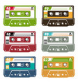 set of tape cassette vector image
