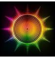 shining neon rainbow colors sun vector image vector image