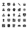 startup and new business glyph set vector image vector image