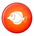 Tang fish Zebrasoma flavescens icon flat style vector image