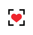 Target love icon design template isolated