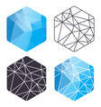 triangle hexagon set vector image vector image