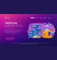 vertical green city concept landing page vector image vector image