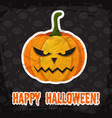 vintage happy halloween template vector image vector image
