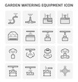 watering equipment icon vector image vector image