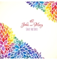 Watercolor painted rainbow colors invitation