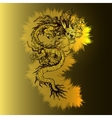Chinese golden dragon on a luminous gold vector image