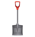 A shovel with a red handle vector image