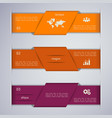 abstract colorful web banner design template vector image