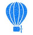 air balloon grunge icon vector image