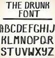 alphabetuppercase hand drawn grunge letters vector image