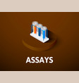 assays isometric icon isolated on color vector image vector image