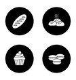 bakery glyph icons set vector image vector image