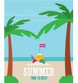 beach toys flat vector image
