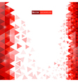bg red triangles vector image vector image
