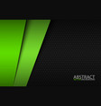 black and green modern material design vector image vector image