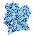 blue circles cote d ivoire map collage vector image
