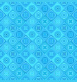 blue geometric diagonal curved shape tile mosaic vector image vector image
