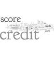 boost credit score vector image vector image