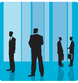 Businessmen in large hall vector image