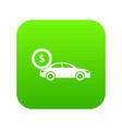 car and dollar sign icon digital green vector image