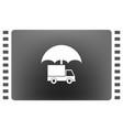 cargo insurance icon vector image vector image
